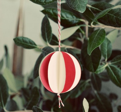 the paper ball ornament
