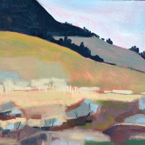 "Foothills 11"" x 14"" oil on birch panel"