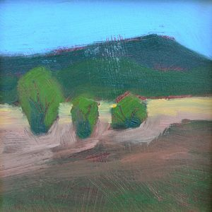 "Mountain Pasture 4"" x 4"" oil on birch panel"