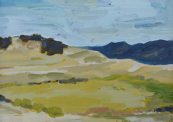 "Valley III 5"" x 7"" oil on birch panel"